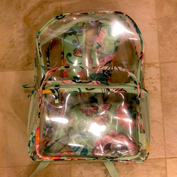 NWOT Vera Bradley Clear Backpack